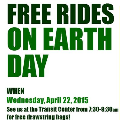 Free Rides on Earth Day!