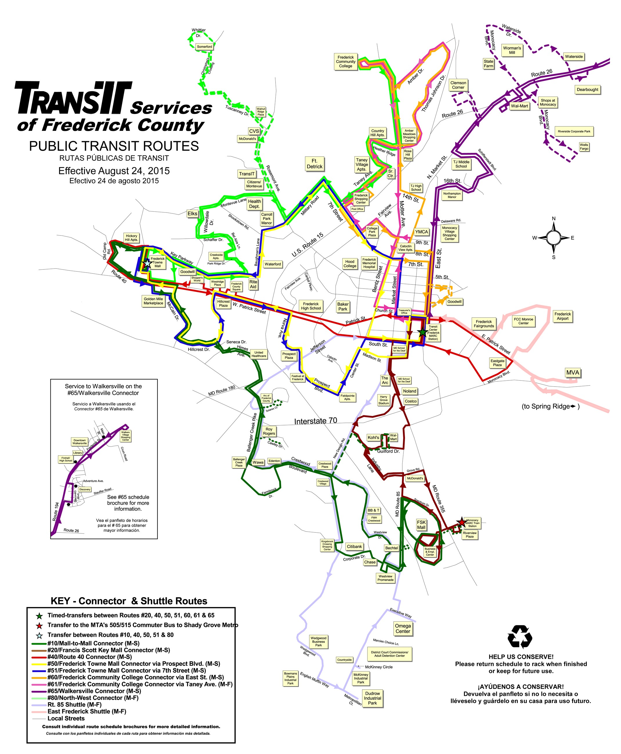 TransIT Ride Guide and Map