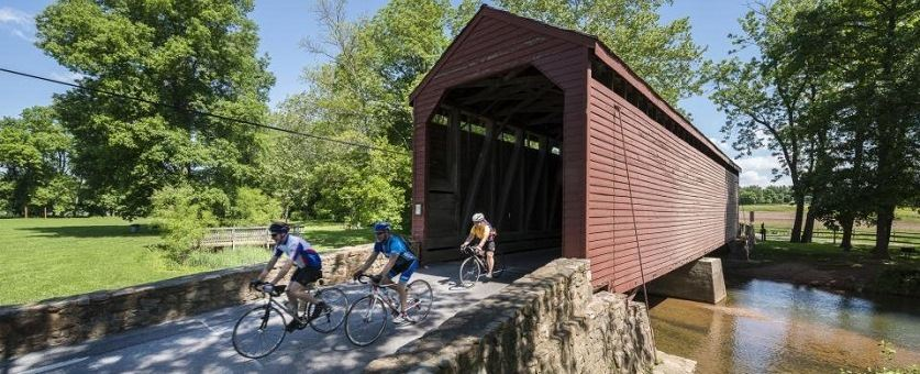 Loys_Station_Covered_Bridge_Bikers_0