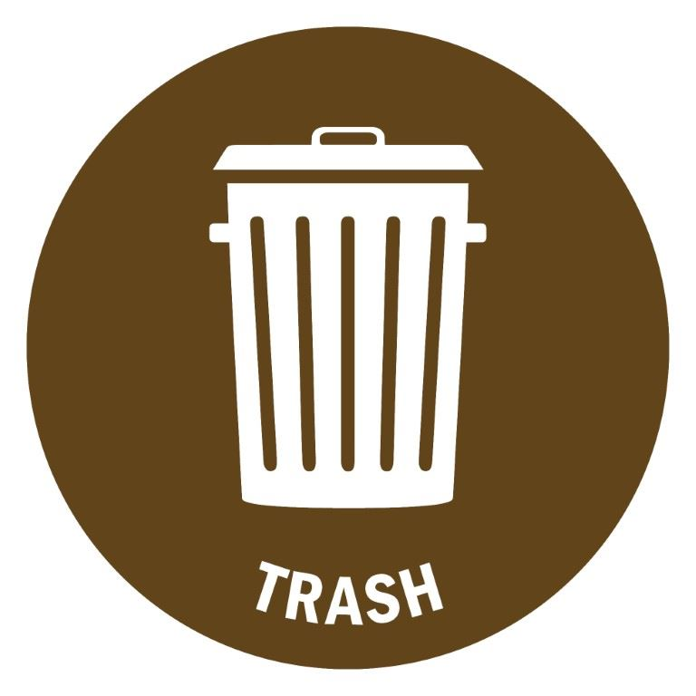 trash bin label