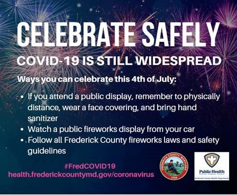 Celebrate the Fourth of July Safely. Avoid crowds, wear face coverings, keep 6 feet apart