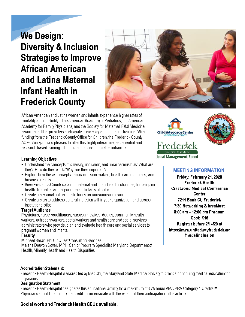 maternal infant health diversity inclusion flyerfor health care final