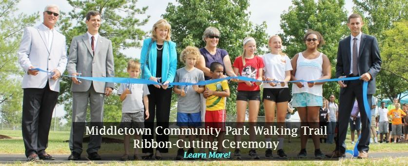 Middletown Community Park Walking Trail Ribbon Cutting