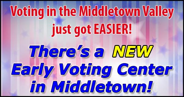 New Early Voting site in Middletown