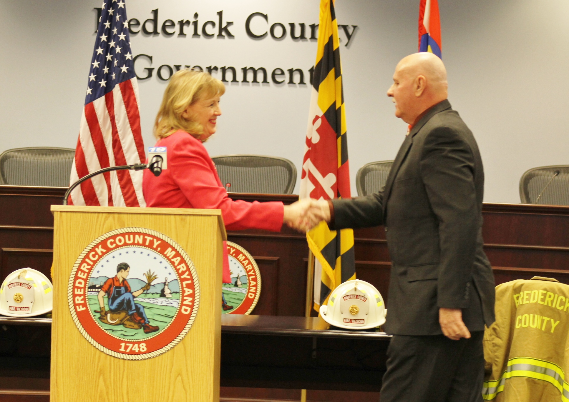 Executive Gardner Welcomes Chief Owens