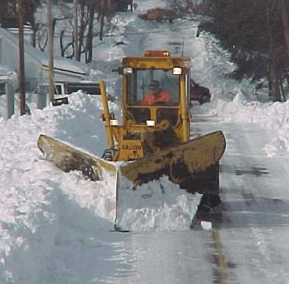 Clearing County Roads During Snow Storm