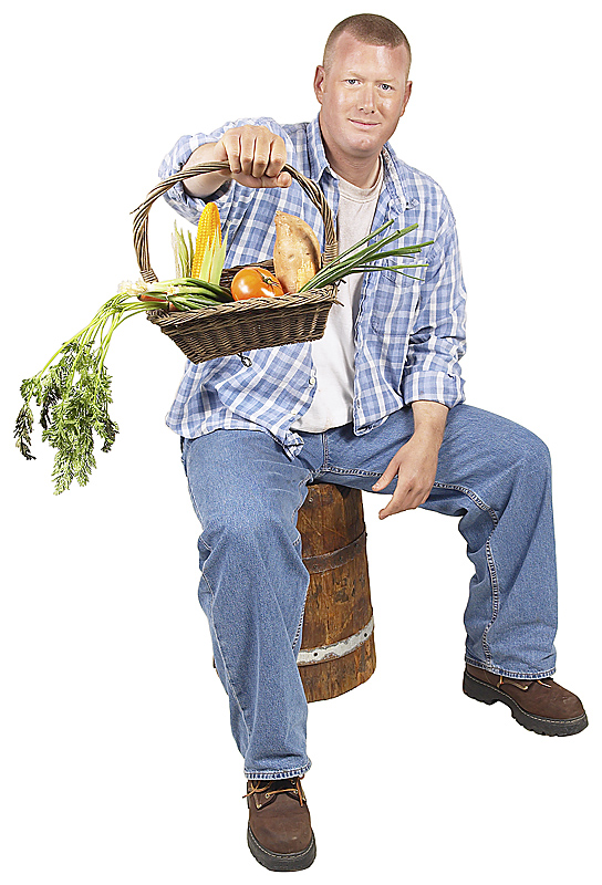 farmer with food